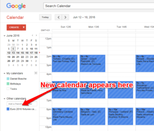 google calendar euro 2016
